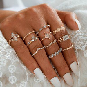 Jewelry - Boho Chic Gypsy feel Ring set